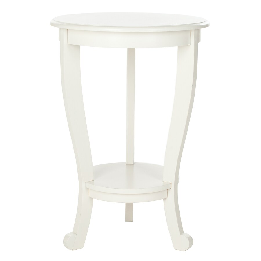 Safavieh Mary Distressed Cream Wood Casual End Table