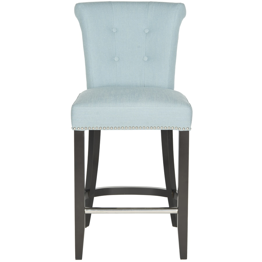 blue bar stools shop safavieh addo ring counter stool modern sky blue 29684