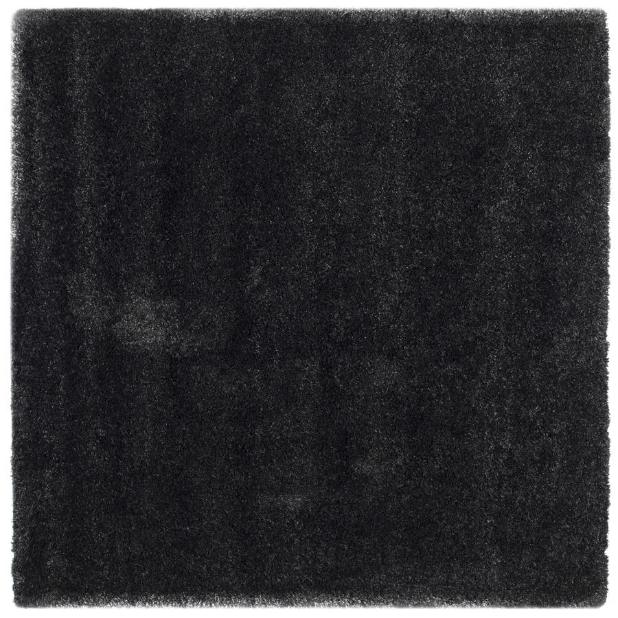 Safavieh California Shag Black Square Indoor Machine-Made Area Rug (Common: 6 x 6; Actual: 6.667-ft W x 6.667-ft L)