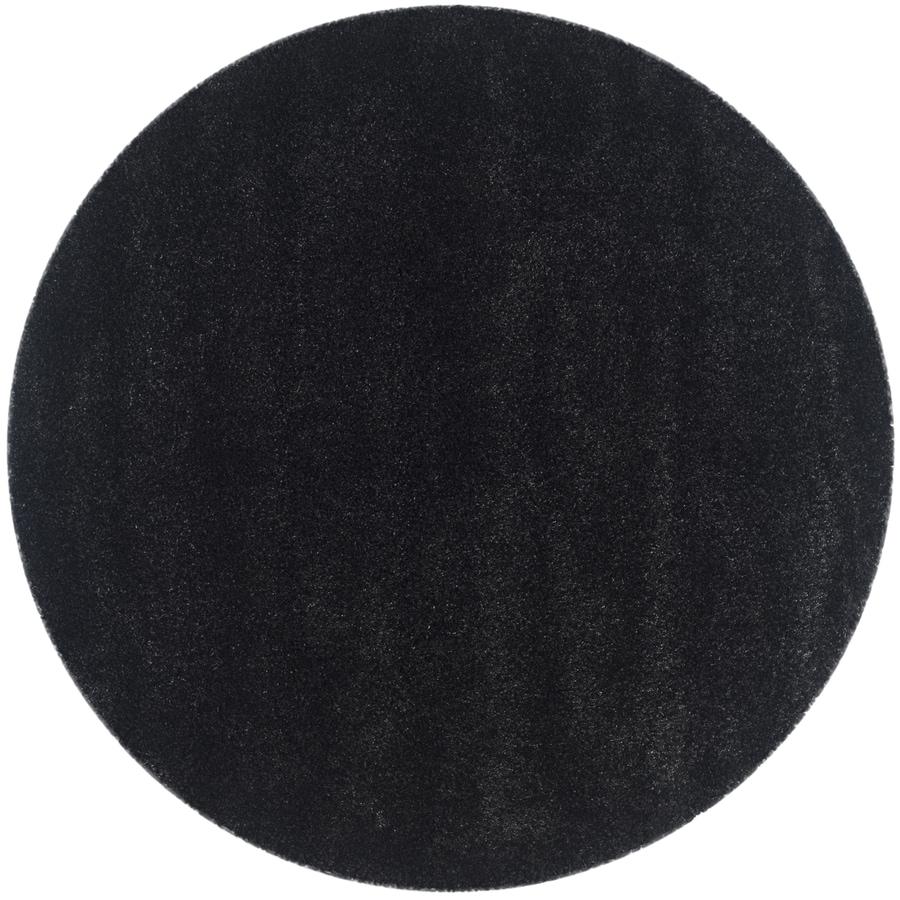Safavieh California Shag Black Round Indoor Machine-made Area Rug (Common: 6 x 6; Actual: 6.667-ft W x 6.667-ft L x 6.667-ft dia)