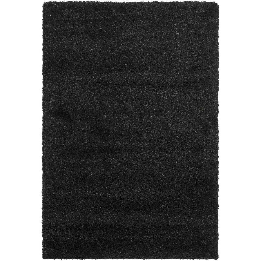 Safavieh California Shag Black Indoor Area Rug (Common: 7 x 9; Actual: 6.7-ft W x 9.5-ft L)