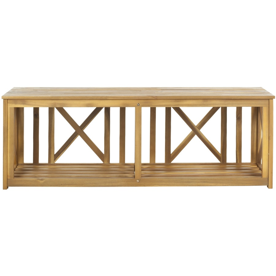 Safavieh American Home 51.2-in W x 13.8-in L Patio Bench