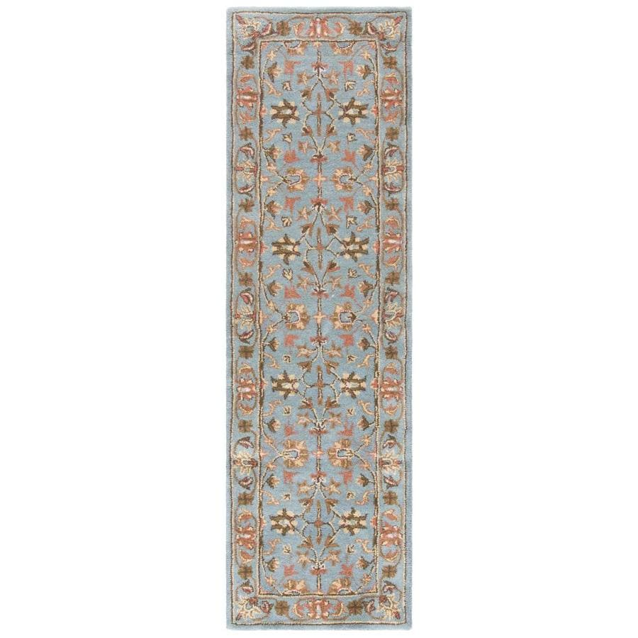 Safavieh Heritage Salor Blue/Blue Indoor Handcrafted Oriental Runner (Common: 2 x 20; Actual: 2.25-ft W x 20-ft L)