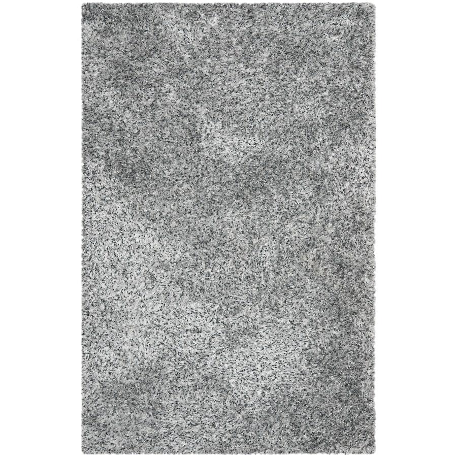 Safavieh Malibu Shag Rectangular Gray Solid Tufted Area Rug Common