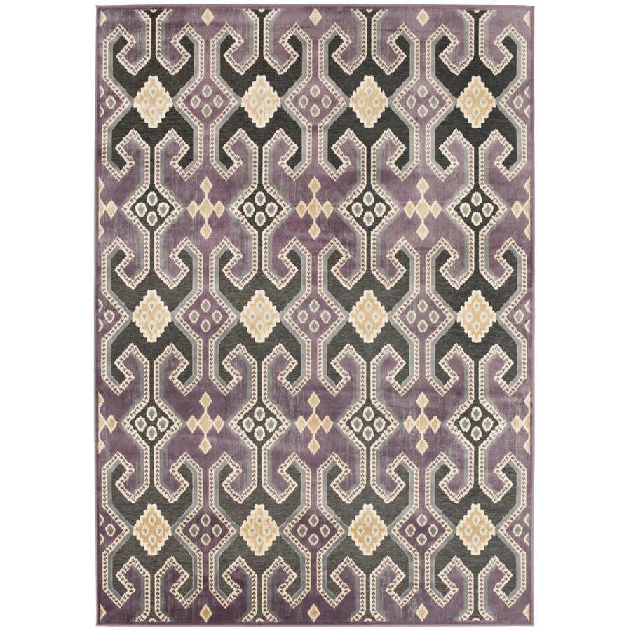 Safavieh Paradise Baker Purple Indoor Oriental Area Rug (Common: 5 x 8; Actual: 5.25-ft W x 7.5-ft L)