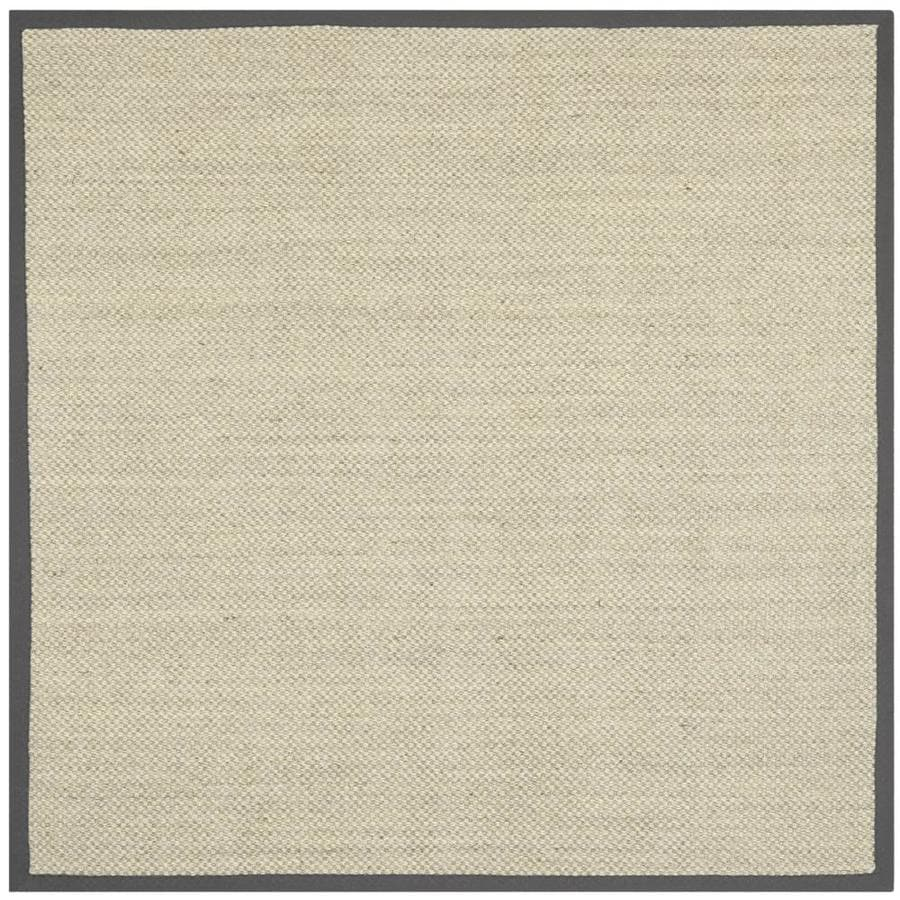 Safavieh Natural Fiber Kismet Marble/Gray Square Indoor Machine-made Coastal Area Rug (Common: 6 x 6; Actual: 6-ft W x 6-ft L)