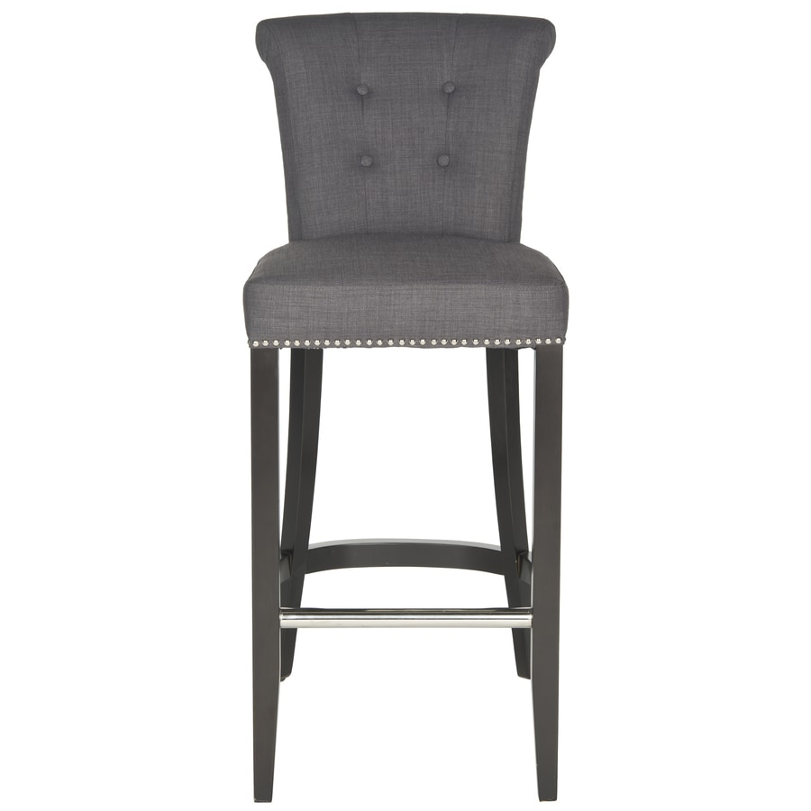 Shop Safavieh Addo Ring Modern Charcoal Bar Stool At Lowes Com