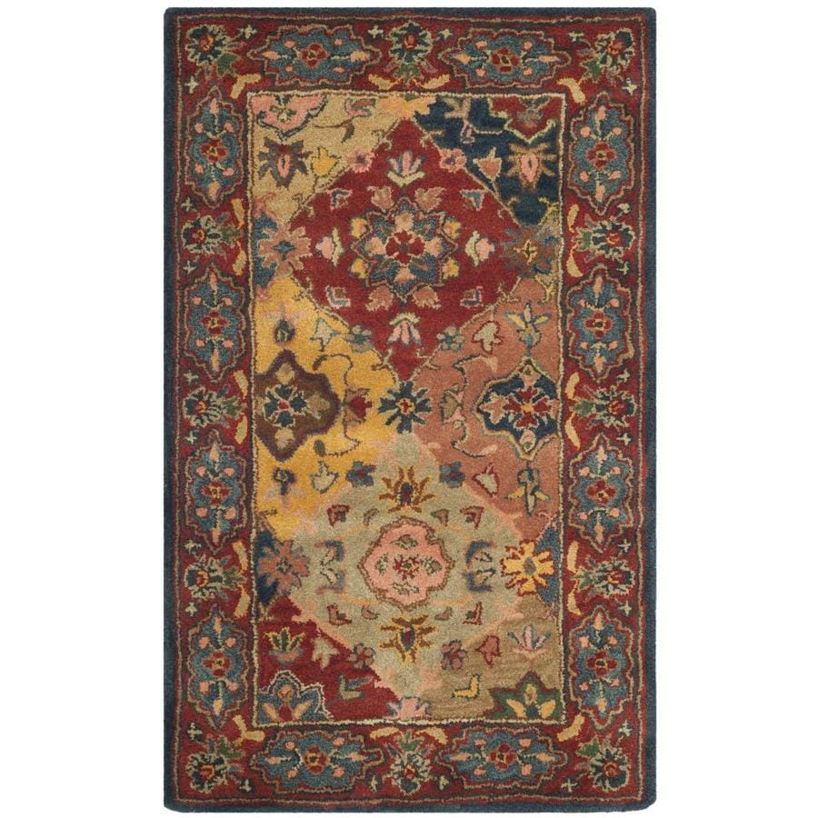 Safavieh Heritage Red and Multicolor Rectangular Indoor Tufted Area Rug (Common: 4 x 6; Actual: 48-in W x 72-in L x 0.5-ft Dia)