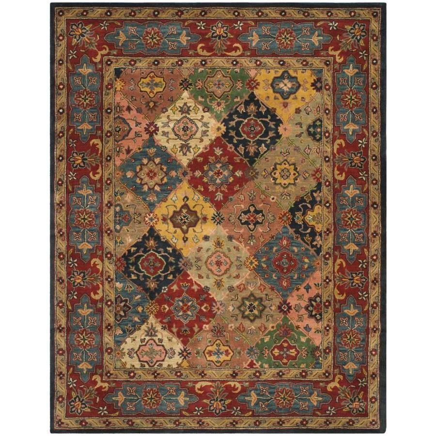 Safavieh Heritage Red and Multicolor Rectangular Indoor Tufted Area Rug (Common: 8 x 10; Actual: 90-in W x 114-in L x 0.67-ft Dia)