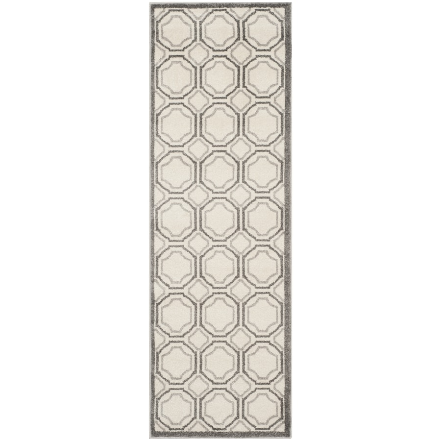 Safavieh Amherst Ivory/Light Gray Rectangular Indoor/Outdoor Machine-Made Moroccan Runner (Common: 2 x 11; Actual: 2.25-ft W x 11-ft L)