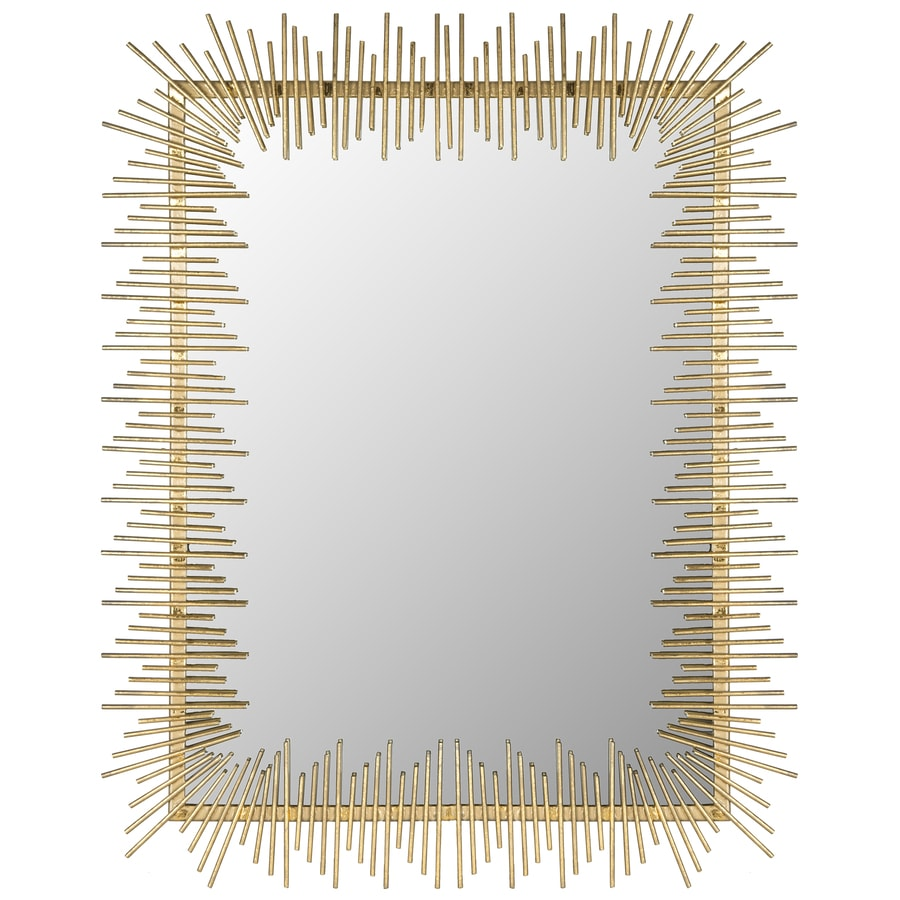 Safavieh Sunray Antique Gold Polished Wall Mirror