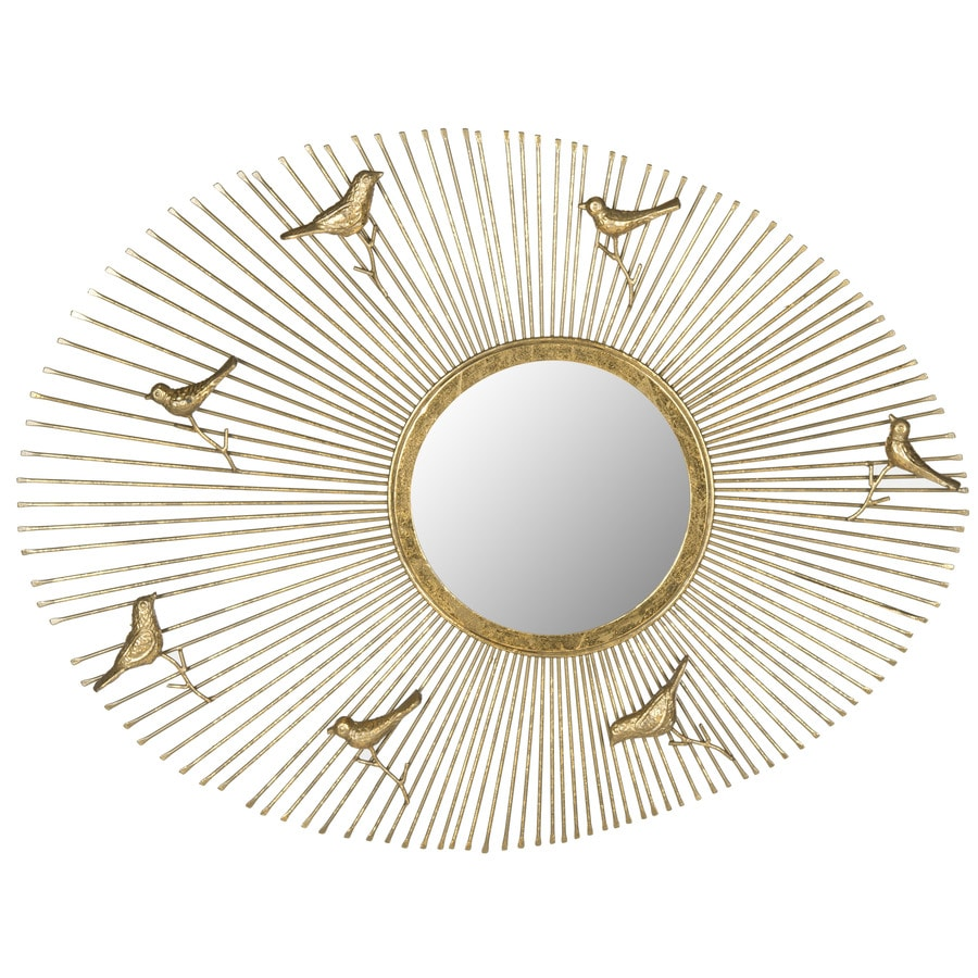 Safavieh Follow The Sun Antique Gold Polished Round Wall Mirror