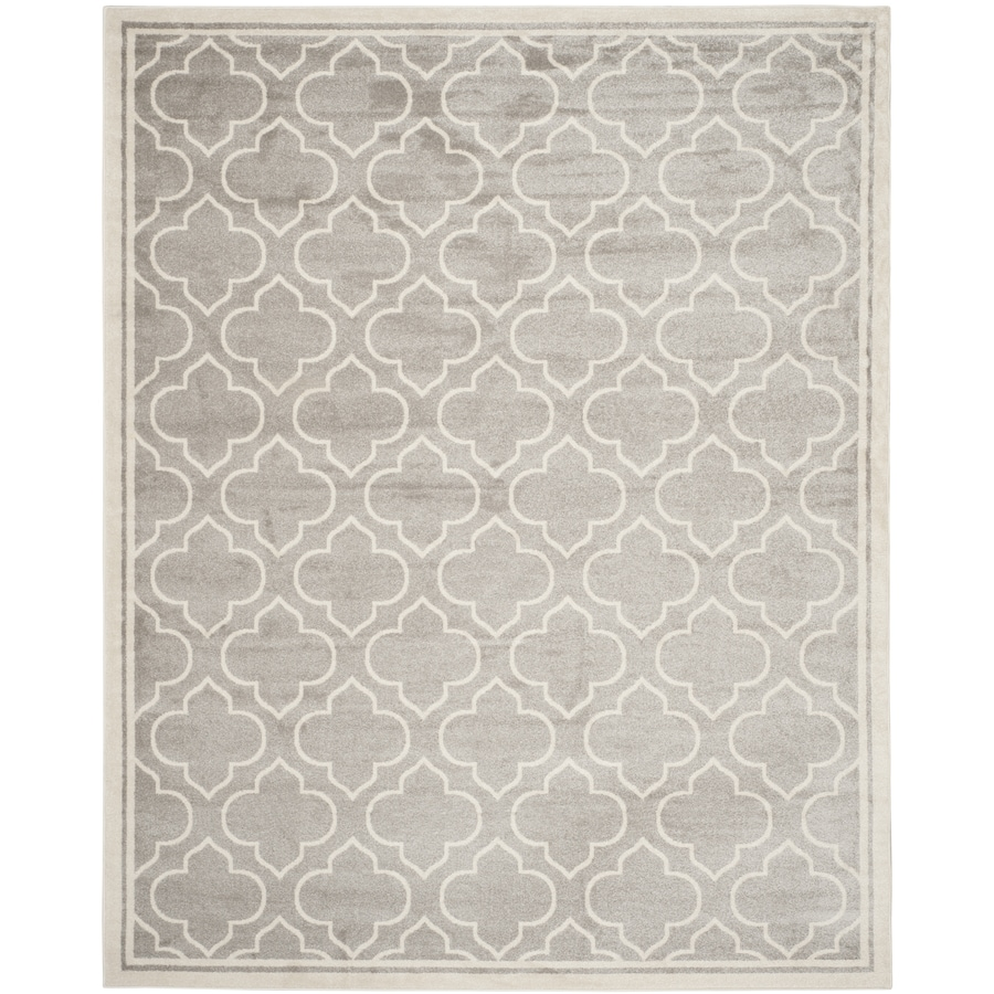 Safavieh Amherst Moroccan Gray/Ivory Rectangular Indoor/Outdoor Machine-Made Moroccan Area Rug (Common: 12 x 18; Actual: 12-ft W x 18-ft L)