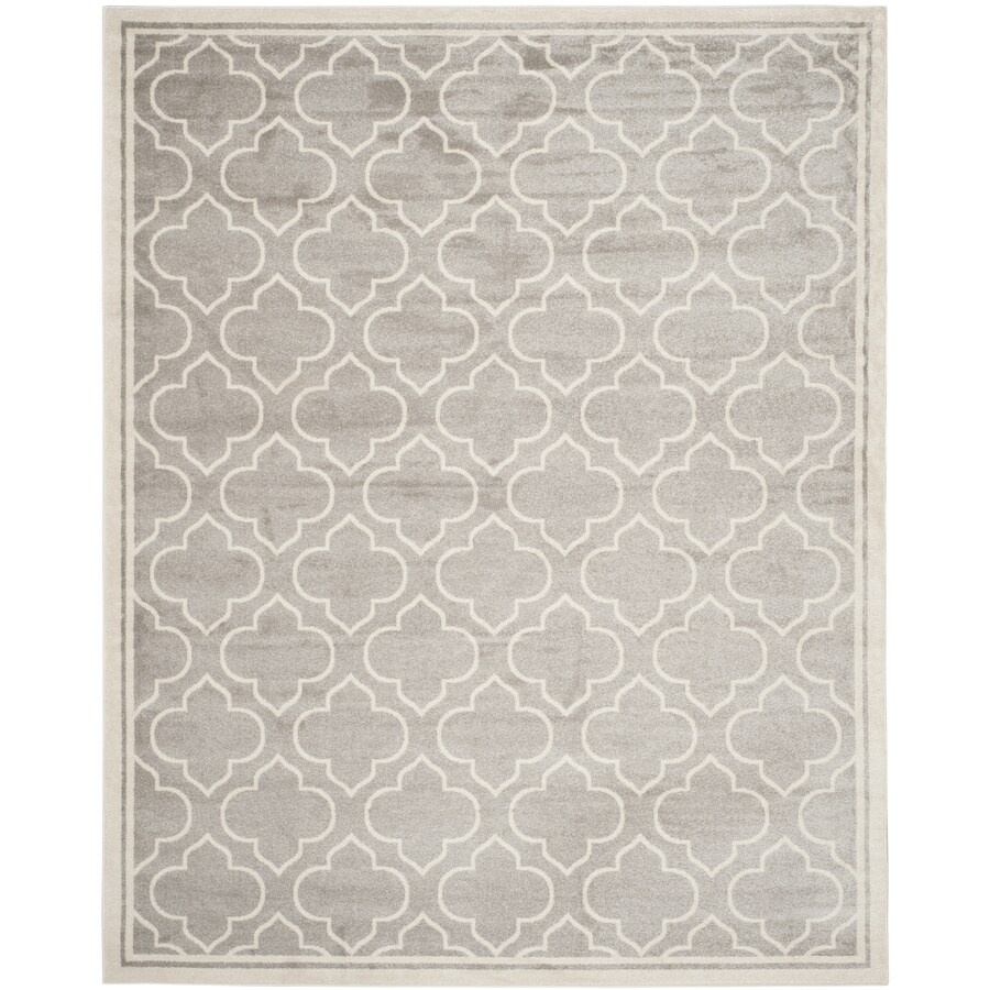 Safavieh Amherst Gray/Ivory Rectangular Indoor/Outdoor Machine-Made Moroccan Area Rug (Common: 12 x 18; Actual: 12-ft W x 18-ft L)