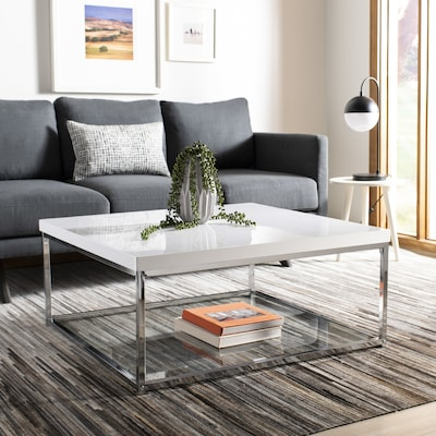 Safavieh Malone White Wood Coffee Table at Lowes.com