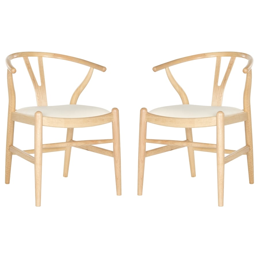 Safavieh Set of 2 Southeast Asia Natural&Ivory Side Chairs