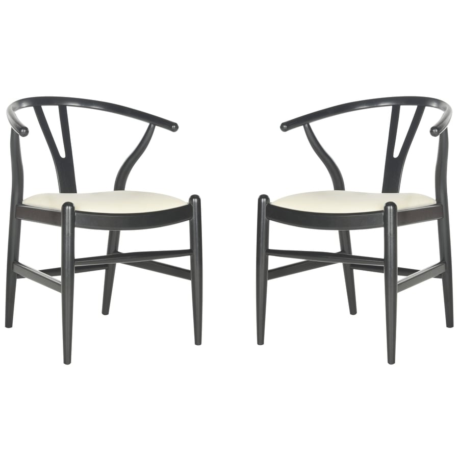 Safavieh Set of 2 Southeast Asia Black&Ivory Side Chairs