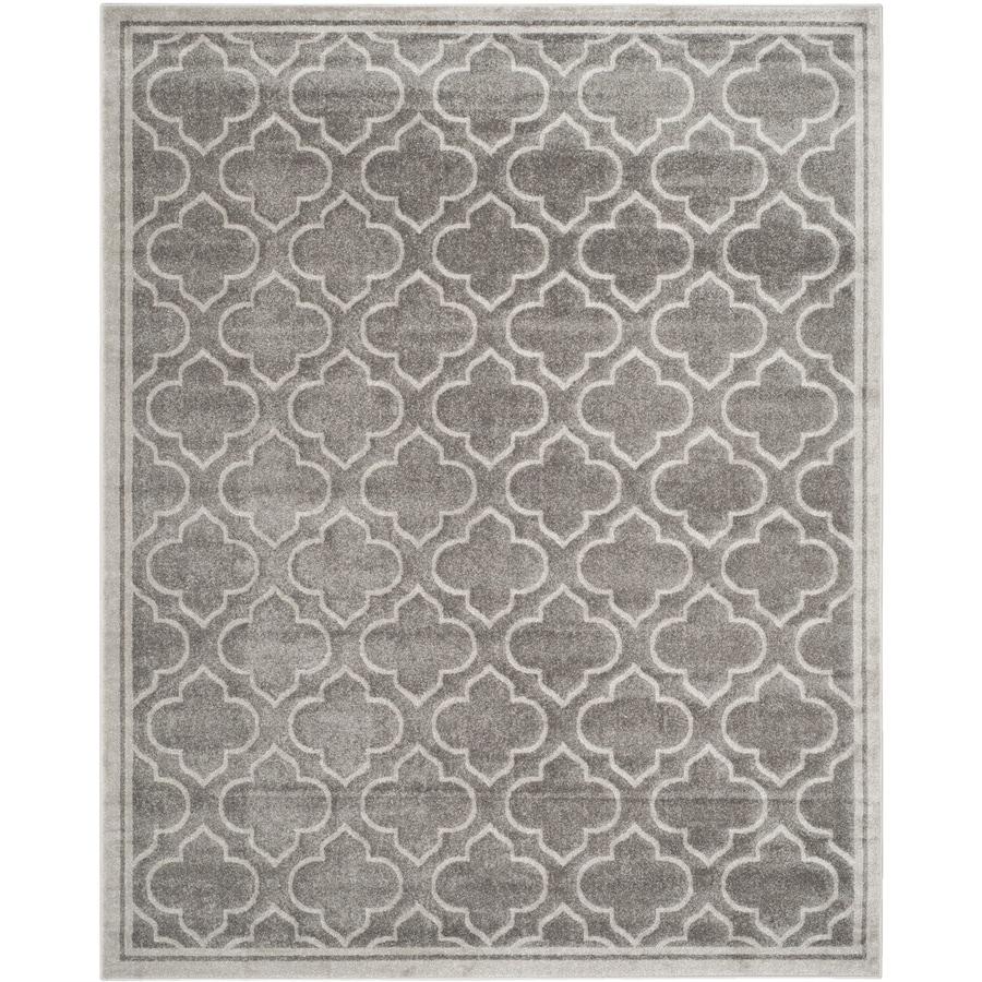 Safavieh Amherst Moroccan Gray/Light Gray Rectangular Indoor/Outdoor Machine-Made Moroccan Area Rug (Common: 11 x 13; Actual: 11-ft W x 16-ft L)