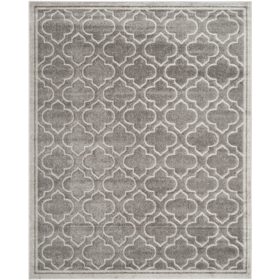 Safavieh Amherst Gray/Light Gray Rectangular Indoor/Outdoor Machine-Made Moroccan Area Rug (Common: 12 x 18; Actual: 12-ft W x 18-ft L)