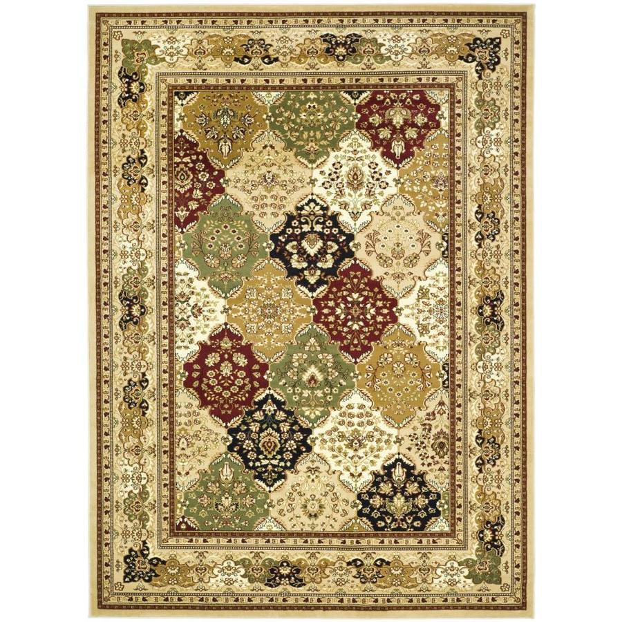 Safavieh Lyndhurst Diamond Baktiari Multi/Black Rectangular Indoor Machine-made Oriental Area Rug (Common: 8 x 11; Actual: 8-ft W x 11-ft L)
