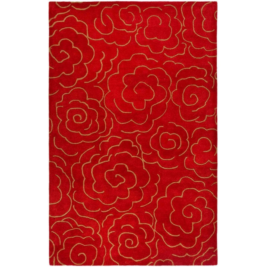 Safavieh Soho Rectangular Red Tufted Area Rug (Common: 5-ft x 8-ft; Actual: 5-ft x 8-ft)