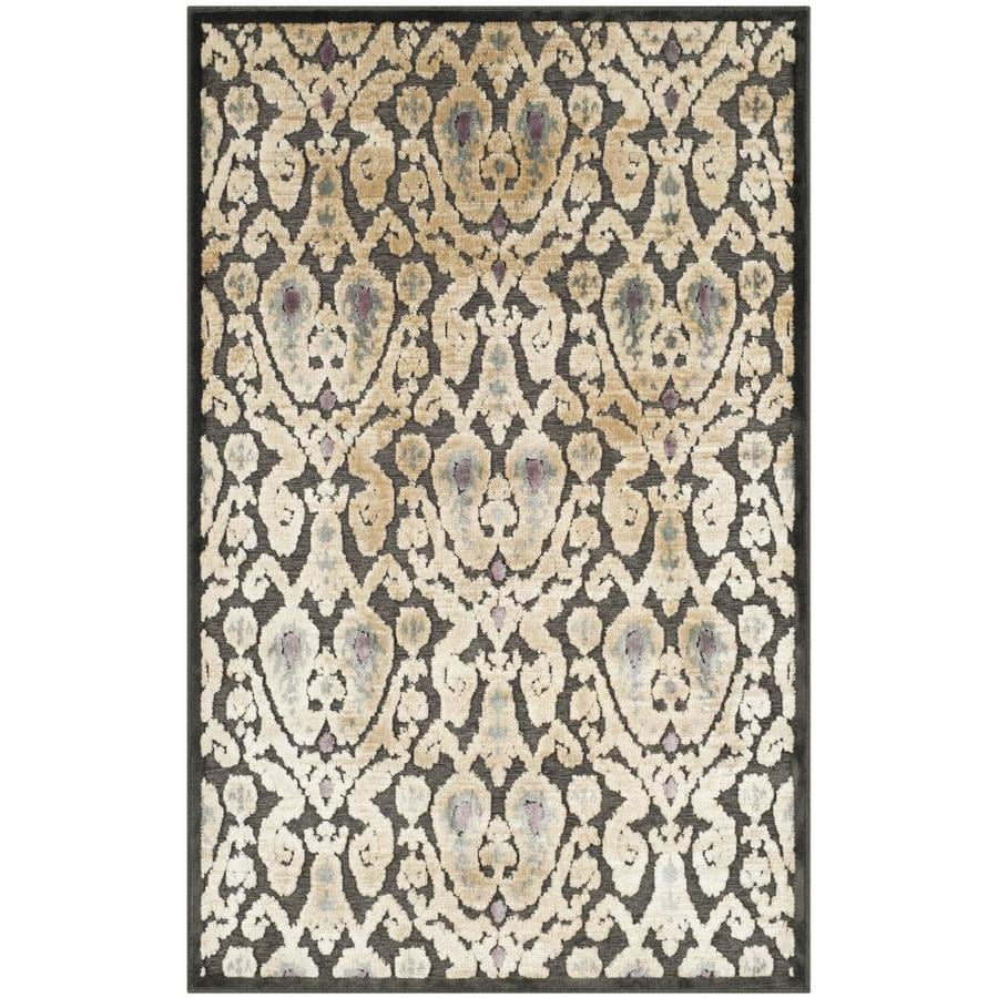 Safavieh Paradise Nason Charcoal Indoor Oriental Area Rug (Common: 4 x 6; Actual: 4-ft W x 5.6-ft L)