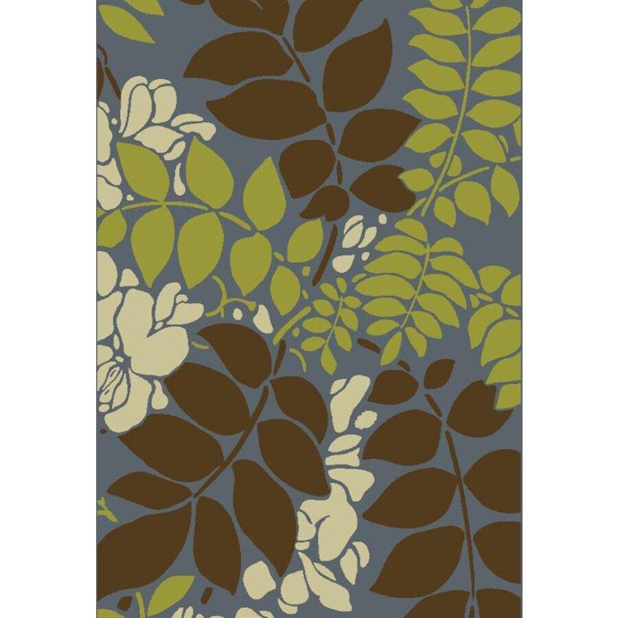 Safavieh Newbury Ferns Blue Brown Indoor Area Rug Common 8 X 10