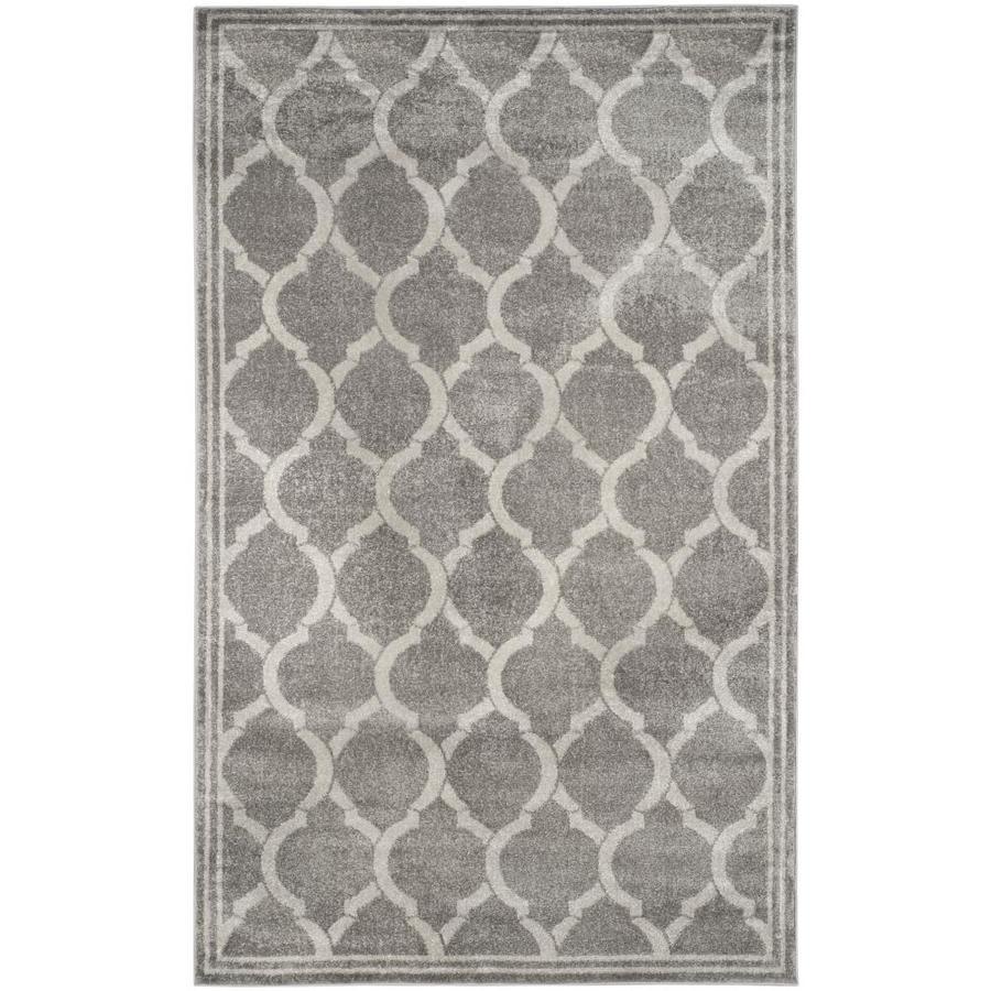 Safavieh Tilles Gray/Light Gray Indoor/Outdoor Area Rug (Common: 5 x 8; Actual: 5-ft W x 8-ft L)