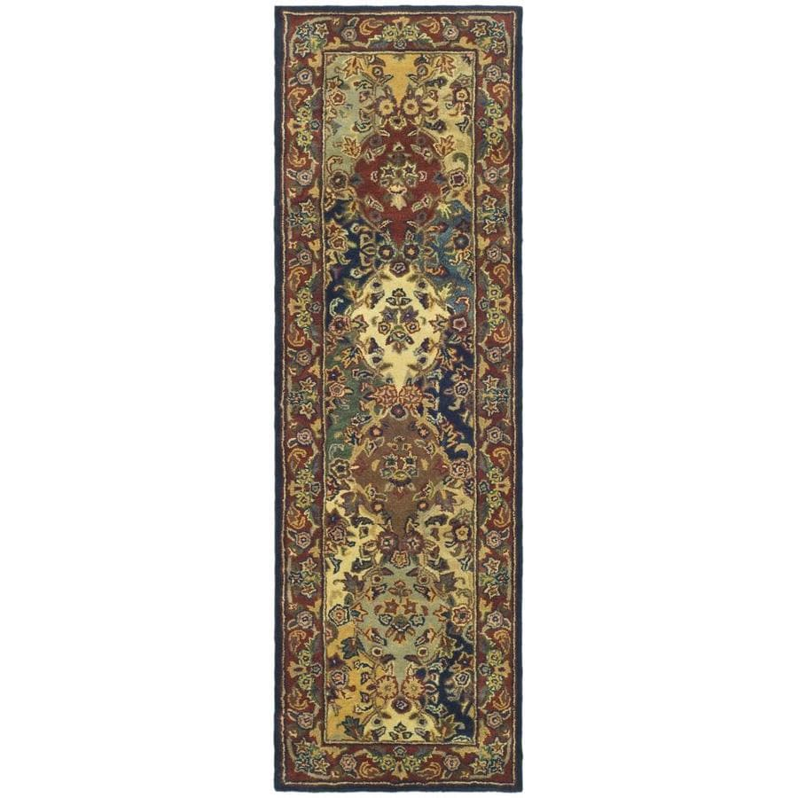 Safavieh Heritage Abaya Multi/Burgundy Rectangular Indoor Handcrafted Throw Rug (Common: 2 x 5; Actual: 2-ft W x 3-ft L)