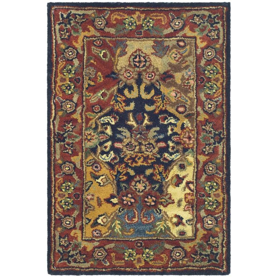 Safavieh Heritage Abaya Burgundy Indoor Handcrafted Oriental Area Rug (Common: 4 x 6; Actual: 4-ft W x 6-ft L)