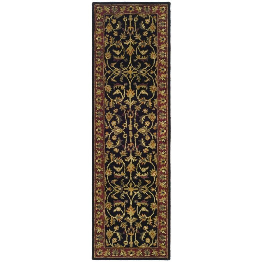 Safavieh Heritage Shiras Black/Red Indoor Handcrafted Oriental Runner (Common: 2 x 10; Actual: 2.25-ft W x 10-ft L)