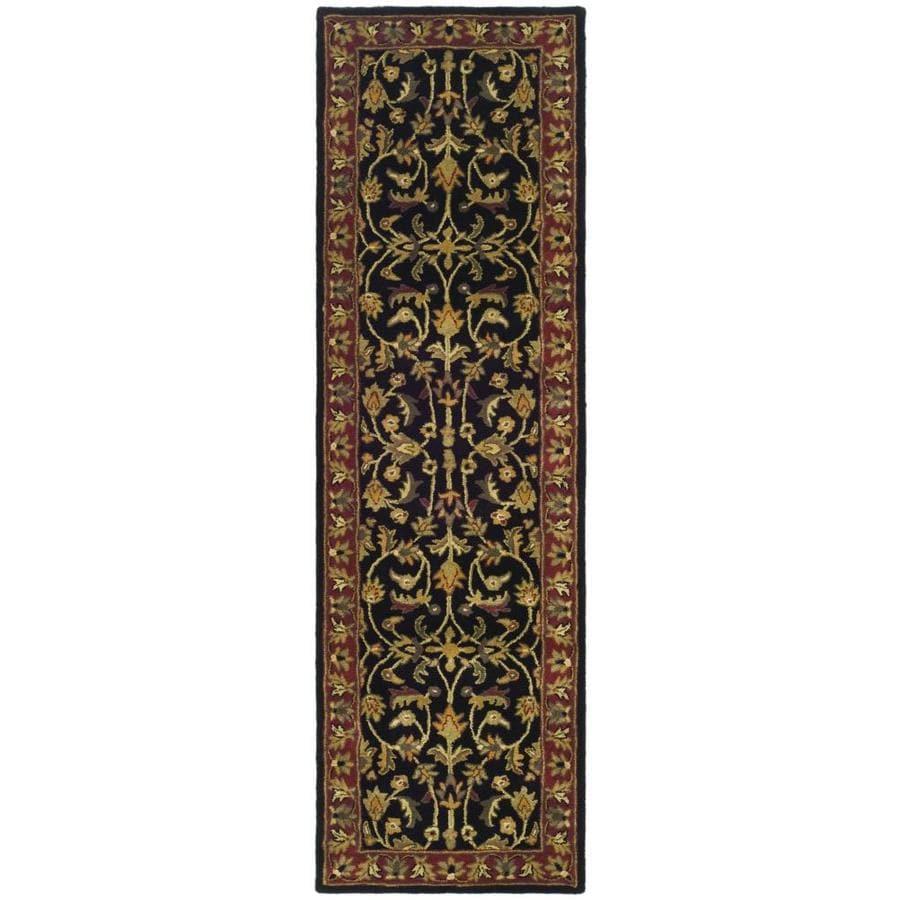 Safavieh Heritage Shiras Black/Red Indoor Handcrafted Oriental Runner (Common: 2 x 12; Actual: 2.25-ft W x 12-ft L)