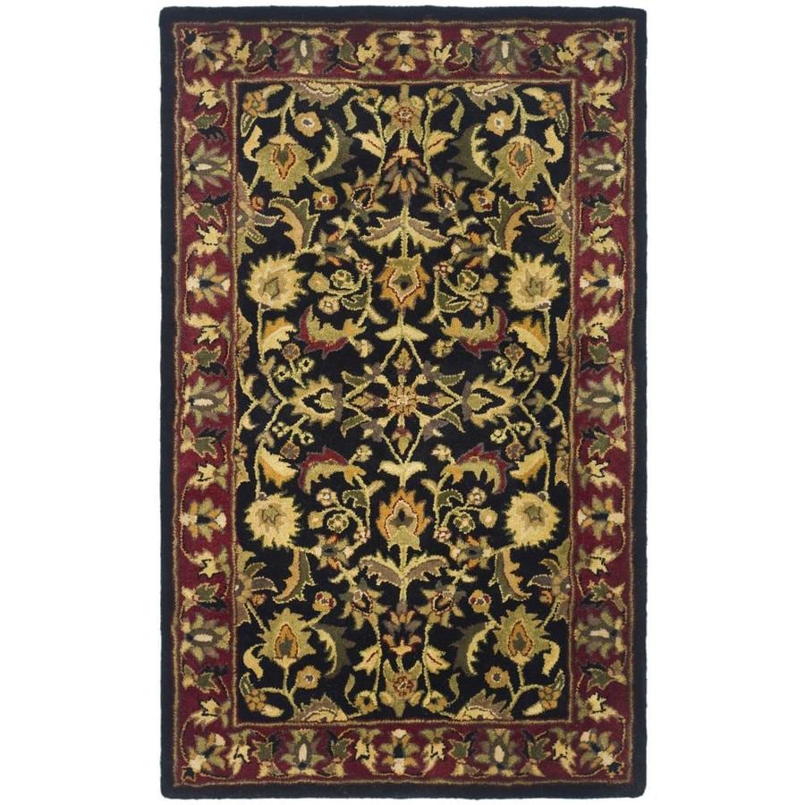Safavieh Heritage Shiras Black/Red Rectangular Indoor Handcrafted Oriental Throw Rug (Common: 3 x 5; Actual: 3-ft W x 5-ft L)