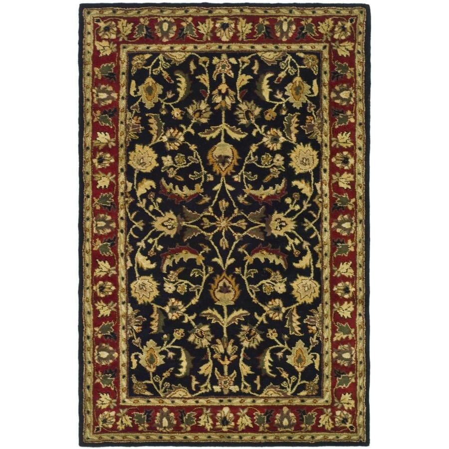 Safavieh Heritage Black and Red Rectangular Indoor Tufted Area Rug (Common: 4 x 6; Actual: 4-ft W x 6-ft L)