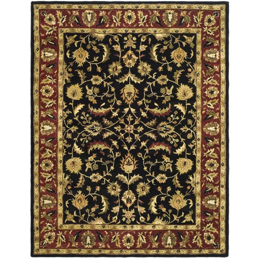 Safavieh Heritage Black/Red Rectangular Indoor Handcrafted Oriental Area Rug (Common: 8 x 11; Actual: 8.25-ft W x 11-ft L)