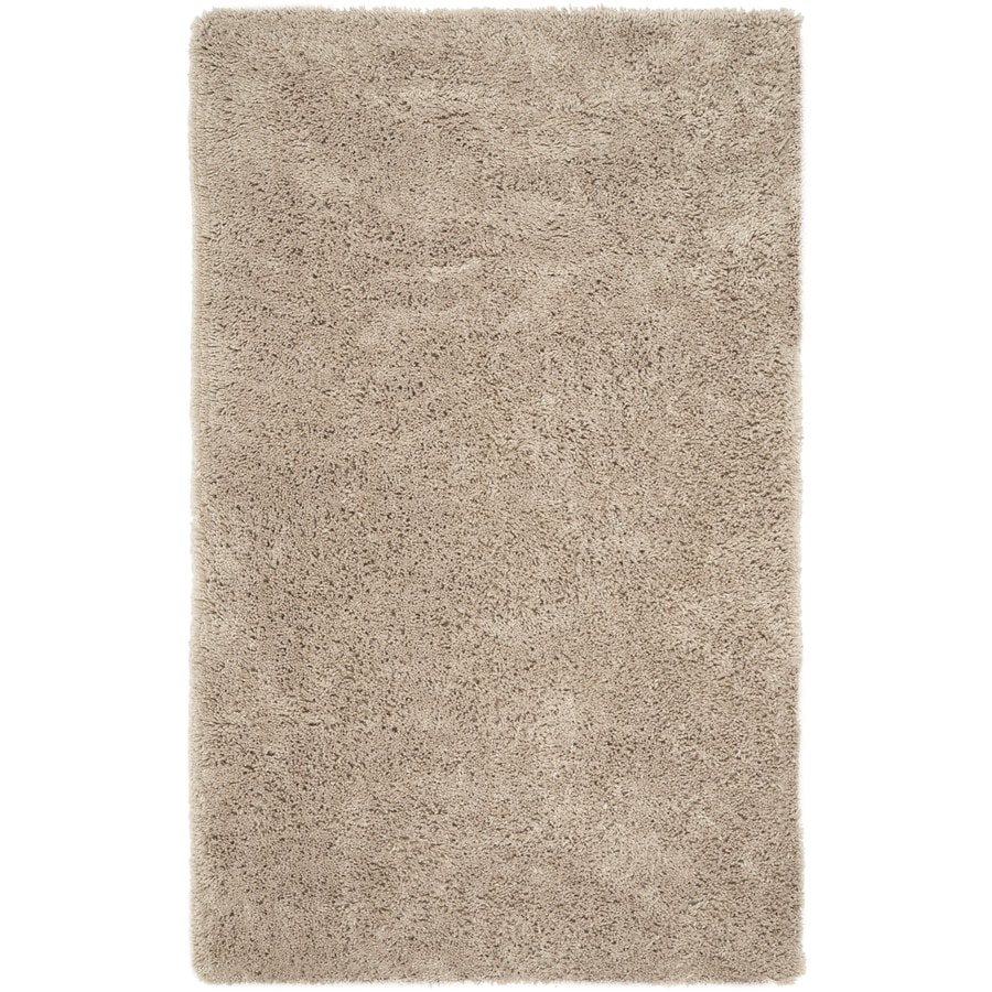 Safavieh Shag White Rectangular Indoor Tufted Area Rug (Common: 10 x 13; Actual: 114-in W x 162-in L x 1-ft Dia)