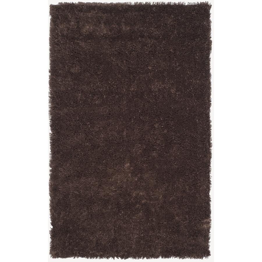Safavieh Shag Chocolate Rectangular Indoor Tufted Throw Rug (Common: 3 x 5; Actual: 36-in W x 60-in L x 0.58-ft Dia)