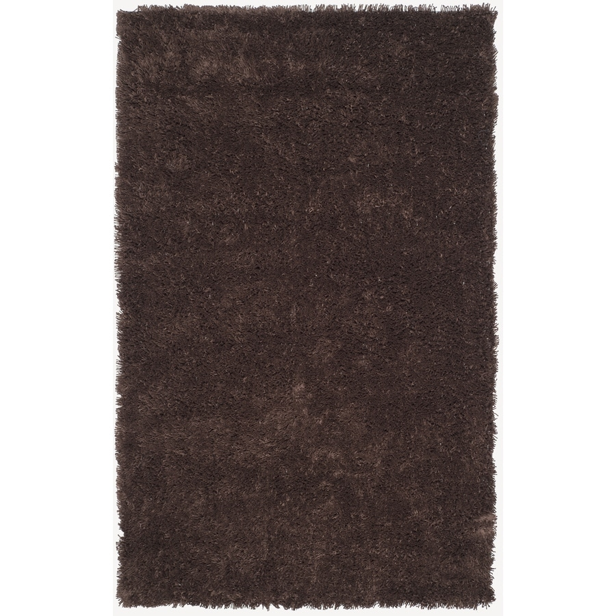 Safavieh Shag Chocolate Rectangular Indoor Tufted Area Rug (Common: 5 x 8; Actual: 60-in W x 96-in L x 0.58-ft Dia)