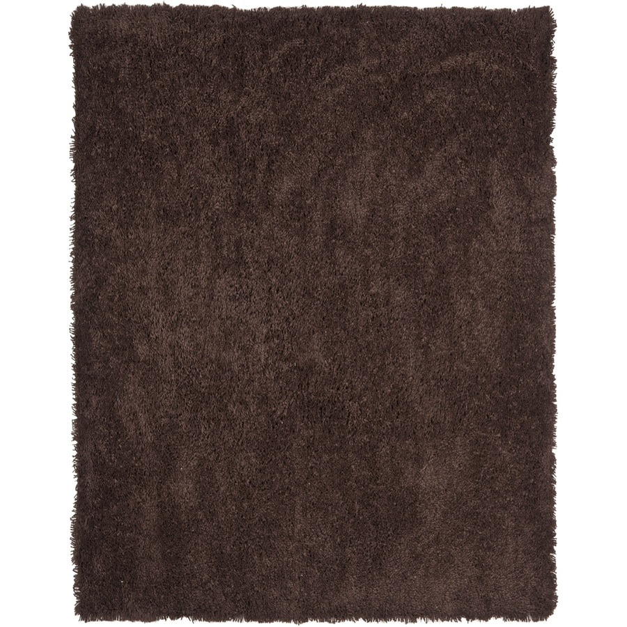 Safavieh Shag Chocolate Rectangular Indoor Tufted Area Rug (Common: 8 x 10; Actual: 90-in W x 114-in L x 0.92-ft Dia)