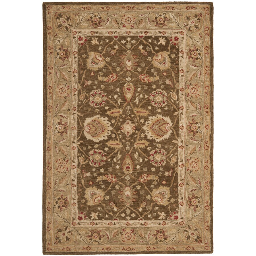 Safavieh Anatolia Rectangular Brown Transitional Tufted Wool Area Rug (Common: 4-ft x 6-ft; Actual: 4-ft x 6-ft)
