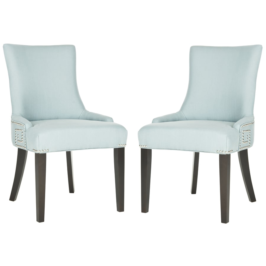 Safavieh Set of 2 Mercer Light Blue Side Chairs