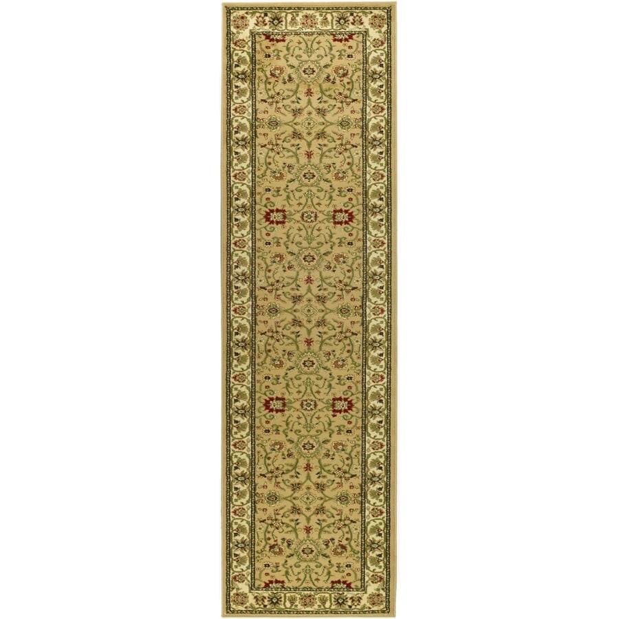 Safavieh Lyndhurst Sarouk Beige/Ivory Indoor Oriental Runner (Common: 2 x 20; Actual: 2.25-ft W x 20-ft L)