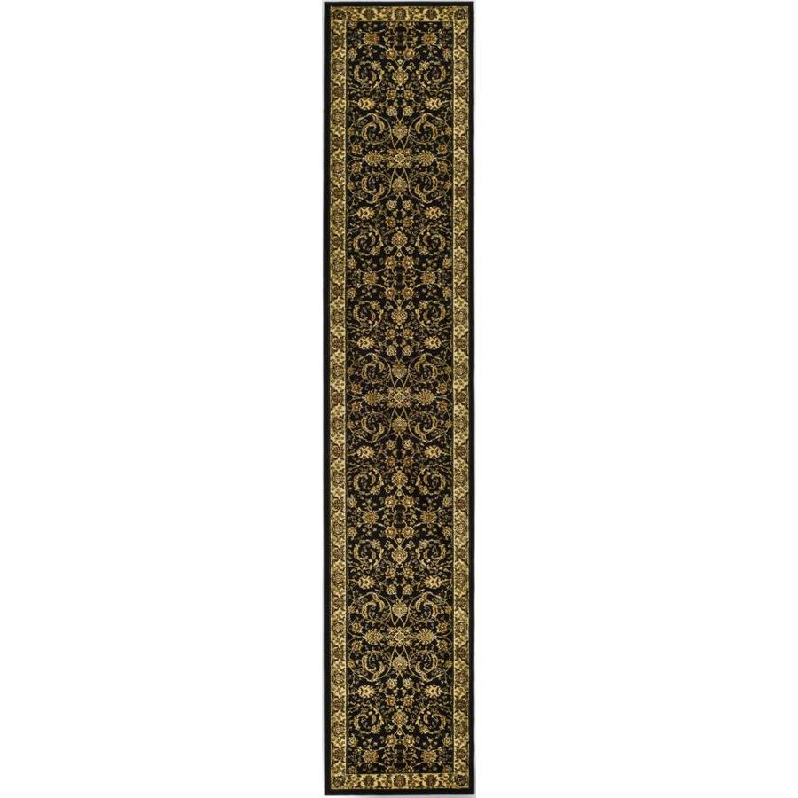 Safavieh Lyndhurst Lavar Black/Ivory Rectangular Indoor Machine-made Oriental Runner (Common: 2 x 20; Actual: 2.25-ft W x 20-ft L)