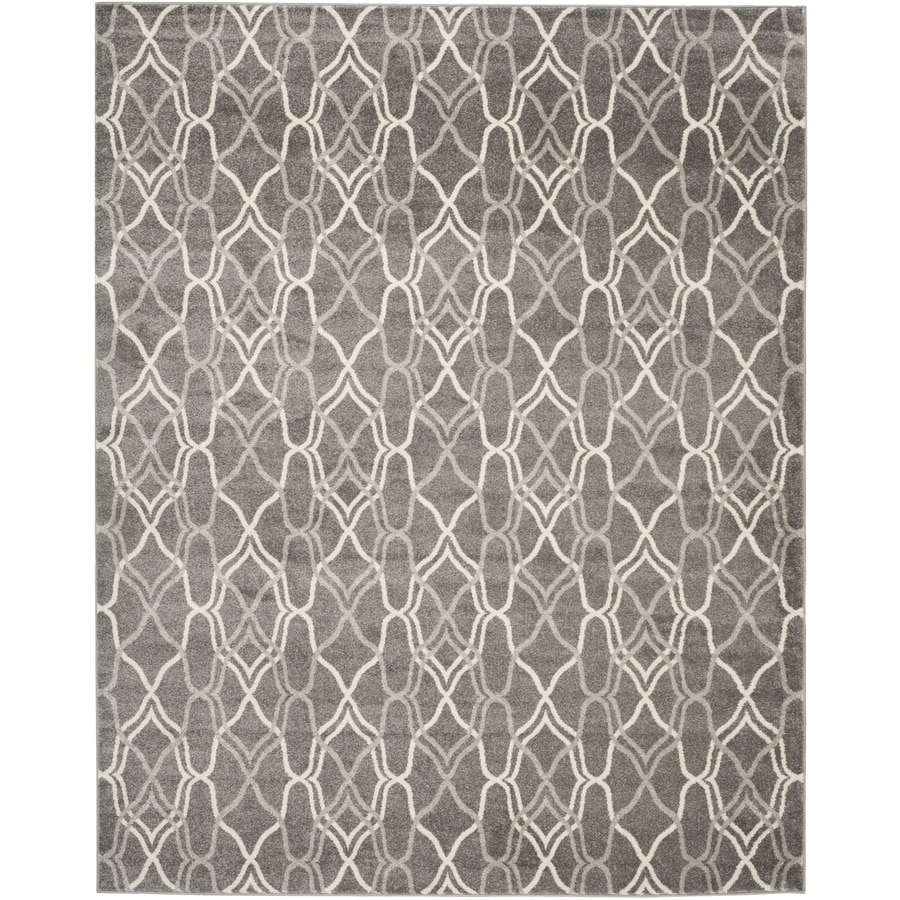 Safavieh Amherst Gray/Light Gray Rectangular Indoor/Outdoor Machine-Made Moroccan Area Rug (Common: 10 x 14; Actual: 10-ft W x 14-ft L)