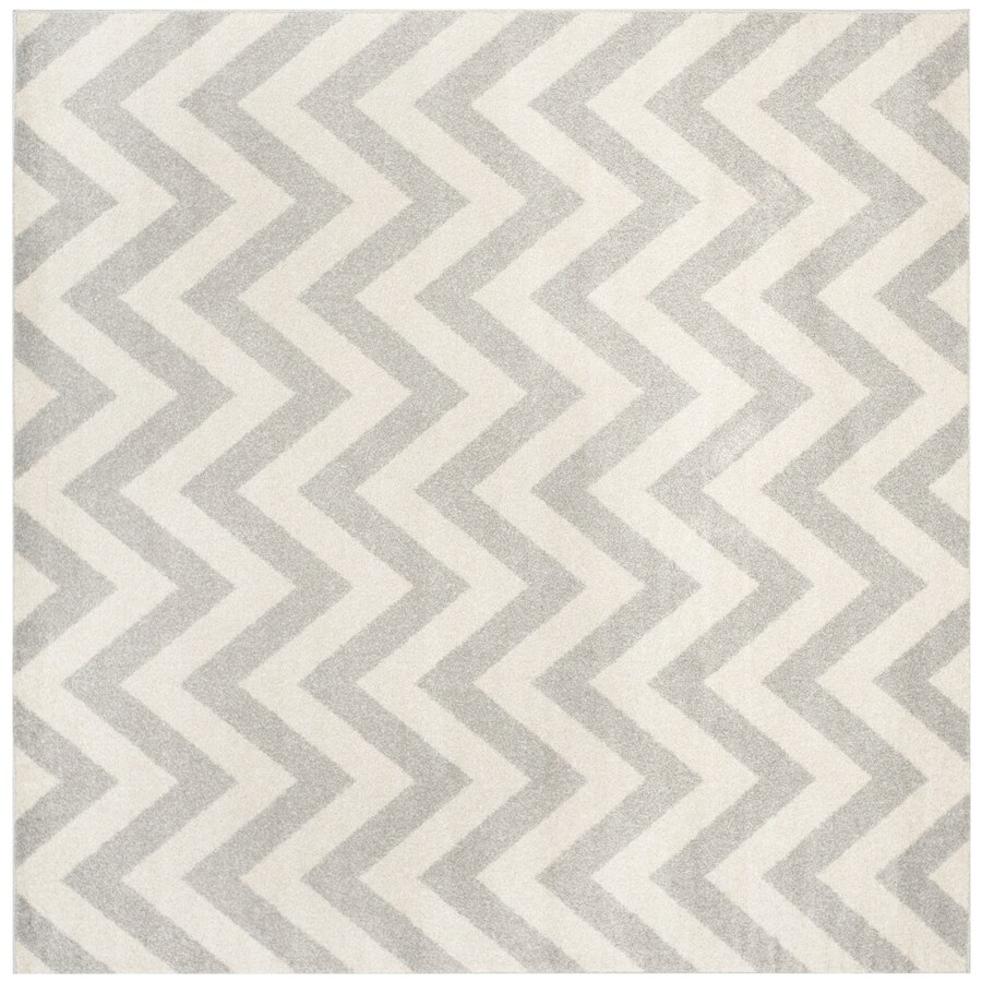 Safavieh Amherst Gray/Beige Square Indoor/Outdoor Machine-Made Moroccan Area Rug (Common: 9 x 9; Actual: 9-ft W x 9-ft L x 0-ft Dia)