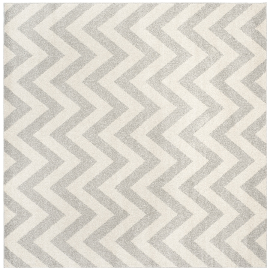 Safavieh Amherst Gray/Beige Square Indoor/Outdoor Machine-Made Moroccan Area Rug (Common: 9 x 9; Actual: 9-ft W x 9-ft L)