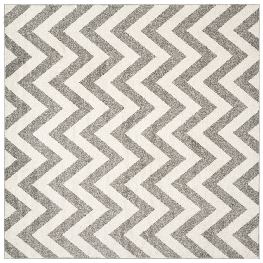 Safavieh Amherst Dark Gray/Beige Square Indoor/Outdoor Machine-Made Moroccan Area Rug (Common: 9 x 9; Actual: 9-ft W x 9-ft L)