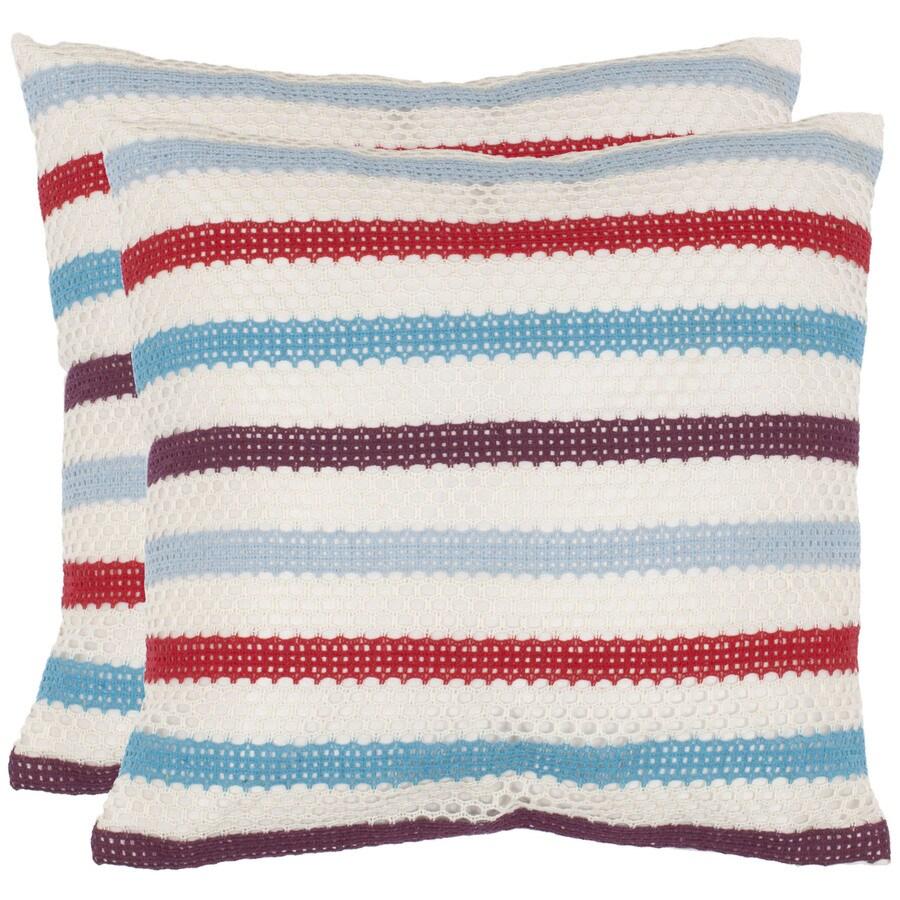 Safavieh 2-Piece 18-in W x 18-in L Blue Square Decorative Pillow
