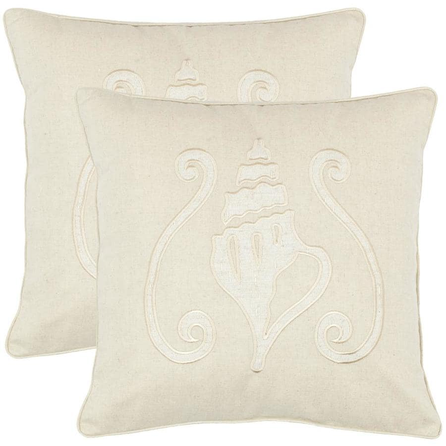 Safavieh Paola 2-Piece 18-in W x 18-in L Sand Square Indoor Decorative Pillow