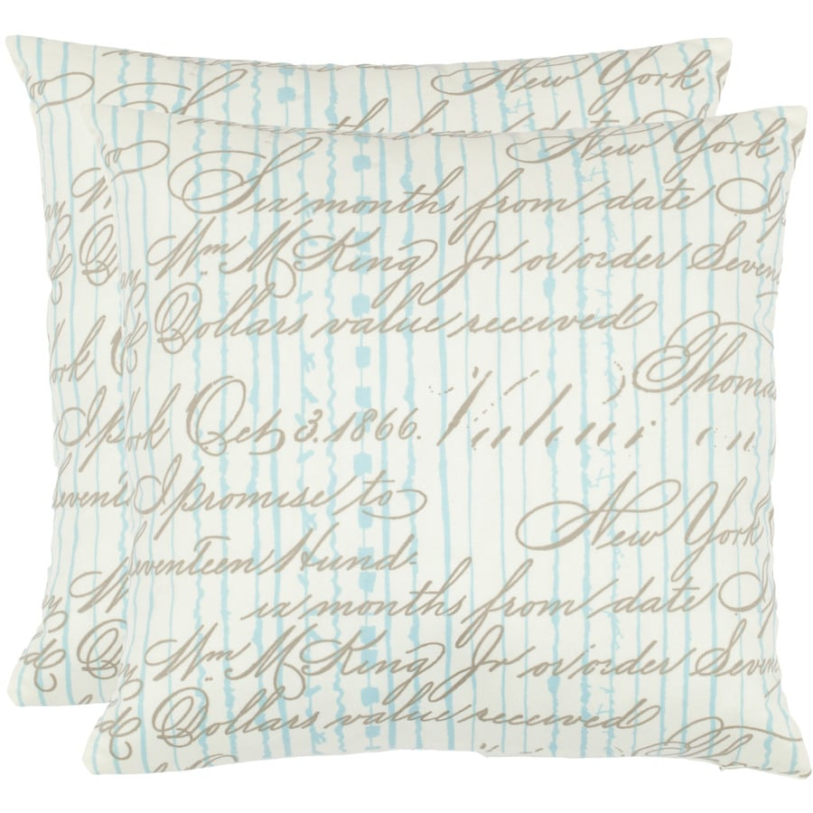 Safavieh 2-Piece 18-in W x 18-in L Periwinkle Square Indoor Decorative Complete Pillows